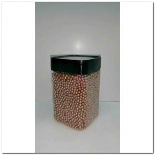 METALLIC GLASS PEARLS 3-3,5MM. 350ML.BRONCE
