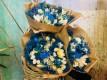 BOUQUET FLOWERS FANTASY BLUE