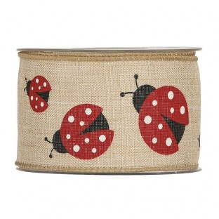 CINTA NASTRO SWEET LADYBUGS MM63 X 10MT