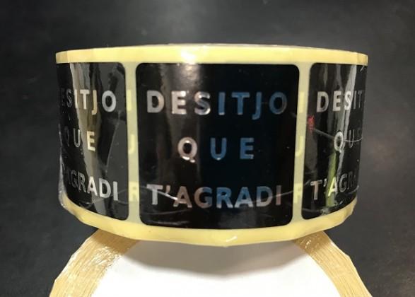 ETIQUETAS DESITJO QUE T'AGRADI NEGRO 500UNI